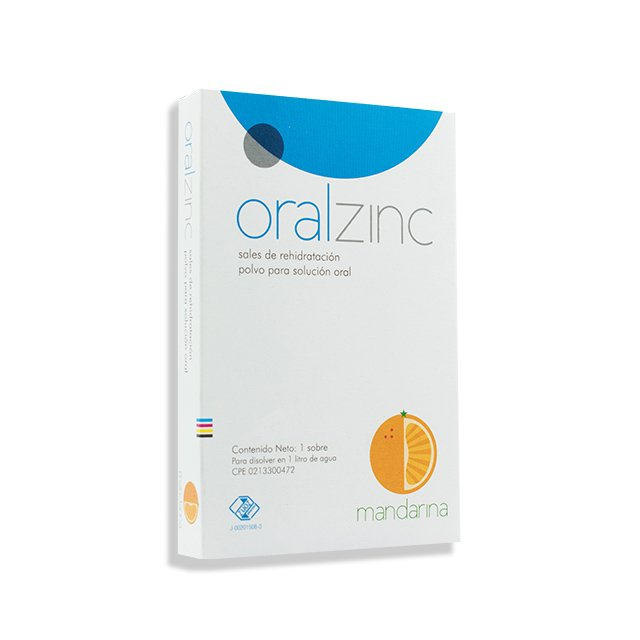 Oralzinc Sales de Rehidratación Polvo para Solución Oral sabor a Mandarina